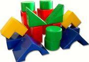 Набор мягких детских модулей Теремок,  18 предметов