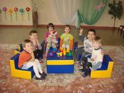 Набор детской мягкой игровой мебели.
