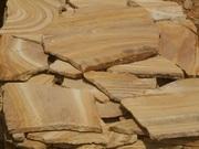 камень песчаник природный рыжий с разводом