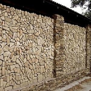 Мозаика окатанная из песчаника природного.