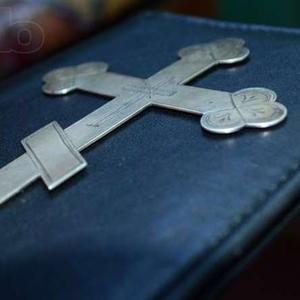 накладка с антикварной книги ,  распятие СЕРЕБРО.