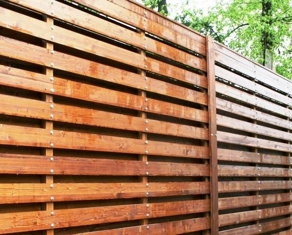 Проветриваемые деревянные заборы. 3