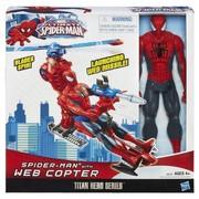 Spider man,  человек паук на вертолете